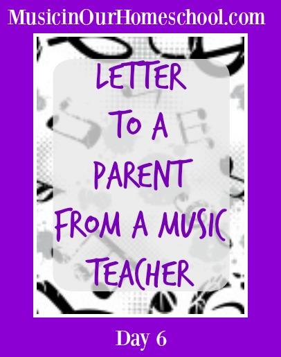 Letter to Parent from Music Teacher #musicinourhomeschool #musiceducation #musiclessonsforkids #homeschoolmusic