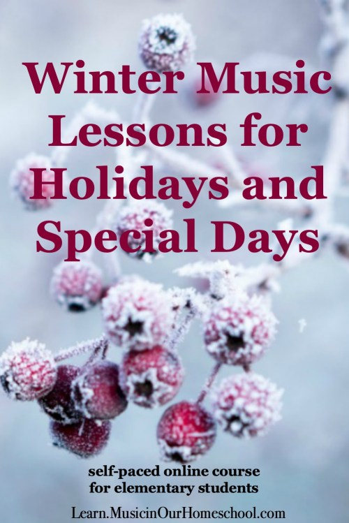 Winter Music Lessons for Holidays and Special Days is an online course to connect music to 12 winter holidays and special days. #elementary #generalmusic