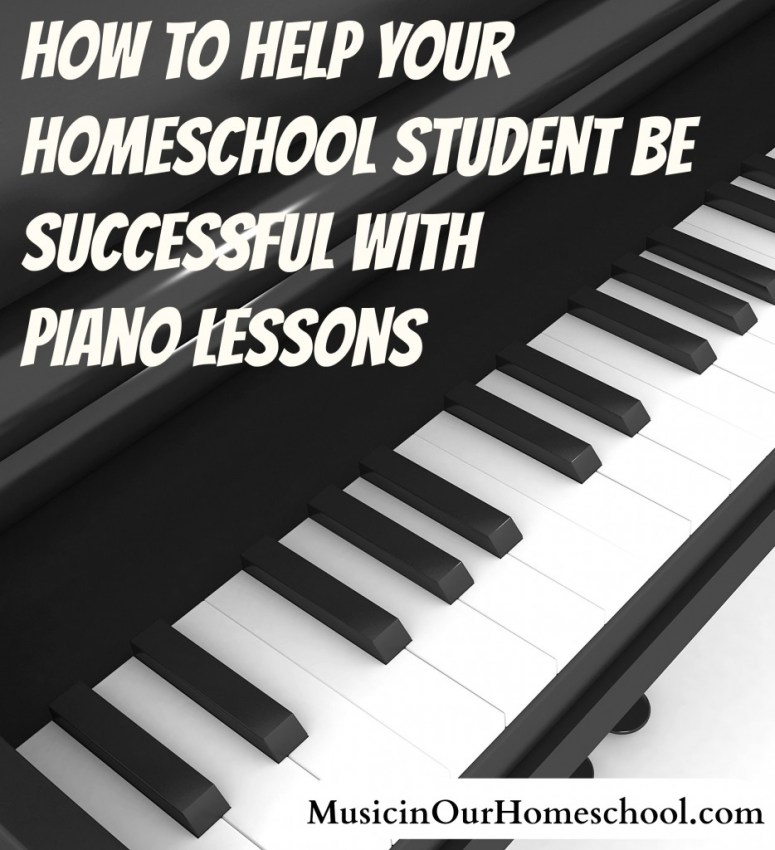 How to Help Your Homeschool Student Be Successful With Piano Lessons