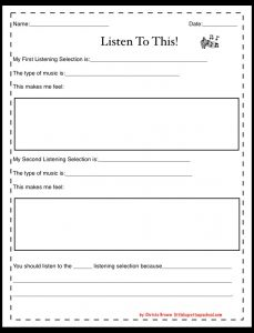 Listen to This! Music Listening Printable free download