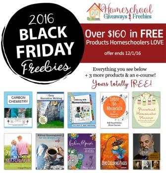 Homeschool Giveaways Black Friday Freebies