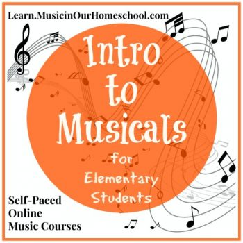 Intro to Musicals self-paced online music course for elementary students