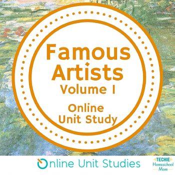 Famous Artists Volume 1 online unit study is part of the Fine Arts Course Giveaway (ends 4/7)