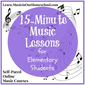 15-Minute Music Lessons online course for elementary students