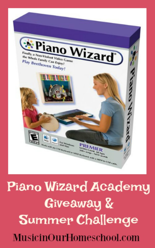 Piano Wizard Academy Giveaway & Summer Challenge (ends June 27)