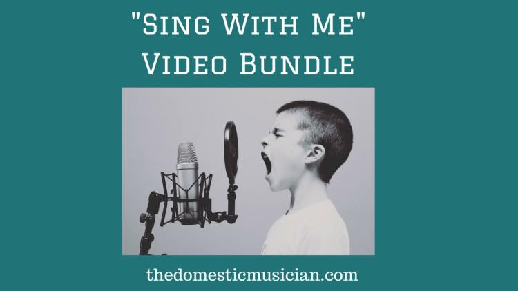 """Sing With Me"" Bundle of music videos to do with your elementary kids"