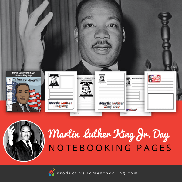 Martin Luther King Jr. Day notebooking pages