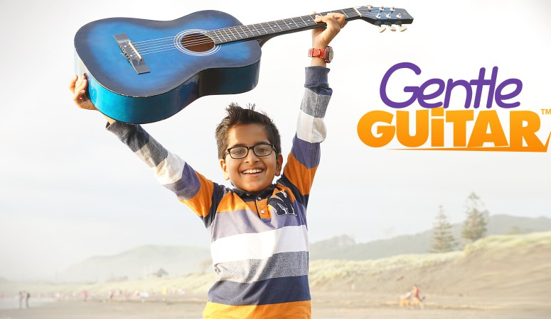 Take lessons in the comfort of your own home with Gentle Guitar lessons at home (from Music in Our Homeschool)