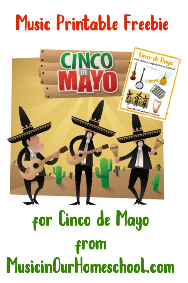 Free Music Printable for Cinco de Mayo #musicfreebie #elementarymusic #musicinourhomeschool #homeschoolmusic