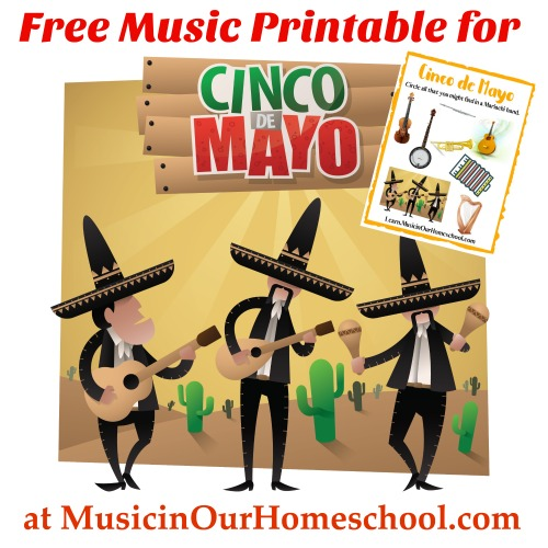 Free Music Printable for Cinco de Mayo