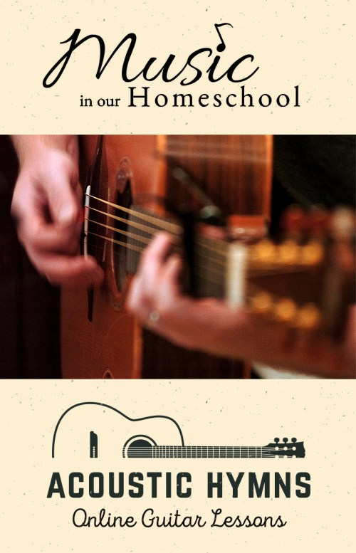 Acoustic Hymns Guitar Method Online Guitar Lessons by Blayne Chastain at MusicinOurHomeschool.com