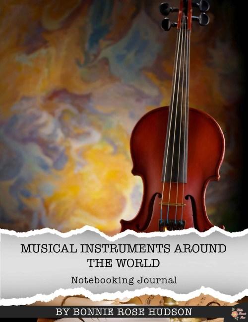Musical Instruments Around the World Notebooking Journal. Get it for free through March 31. 100 different instruments! #musicprintables #musiclessonsforkids #elementarymusic #musicinourhomeschool