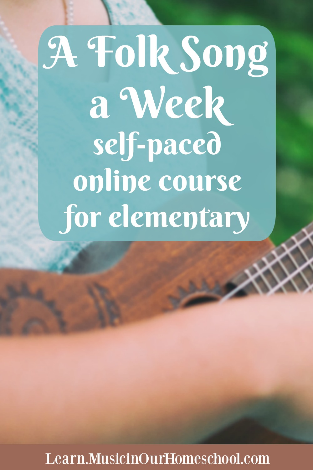 """A Folk Song a Week"" is the newest course from Music in Our Homeschool and is the perfect way to folk songs in your homeschool! Learn 36 songs with your kids. #musiced #folksongs #afolksongaweek #musicinourhomeschool"