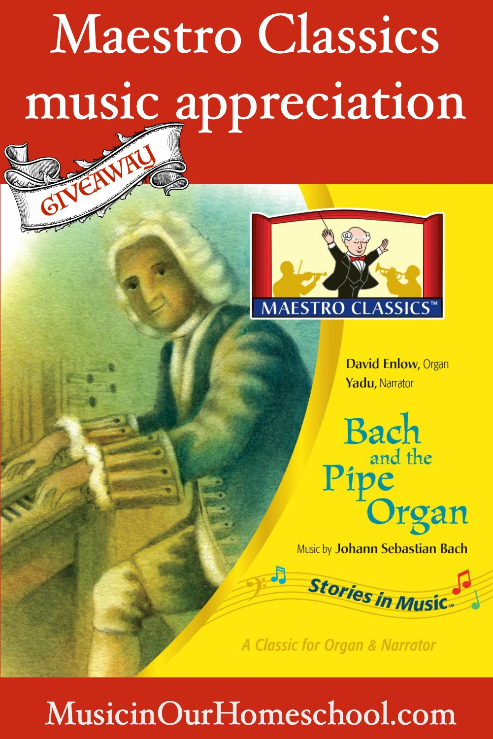 "Maestro Classics new Bach CD called ""Bach and the Pipe Organ"" is a great way to introduce your students to Baroque music. #musicinourhomeschool #homeschoolmusic #musiclessonsforkids"