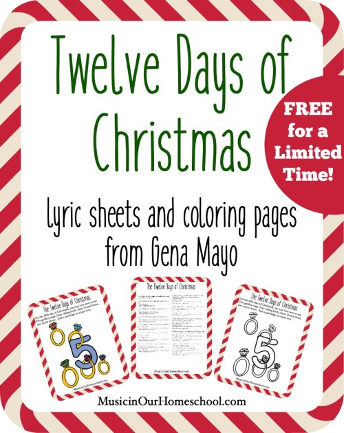 Twelve Days of Christmas Printable Pack Free for a Limited Time