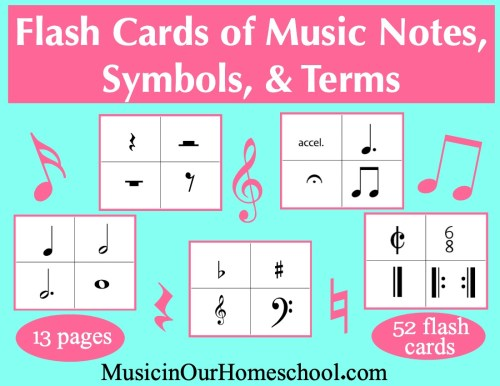 Elementary Music Fun Bundle of Activities: Flash Cards of Music Notes, Symbols, and Terms