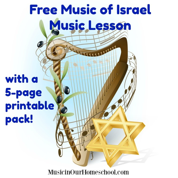 Free Music of Israel Music Lesson with a 5-page printable page