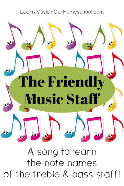 The Friendly Music Staff song to learn the notes of the staff