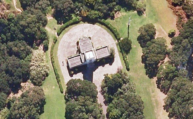 Musick Memorial Radio Station from the air
