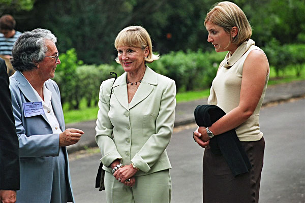 Ann Walker with Mrs Swindells and Whitney Swindells