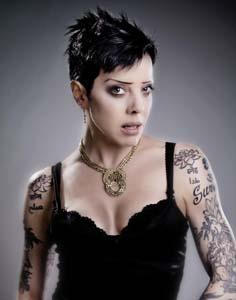 Bif Naked tattoos short hair and tattoos