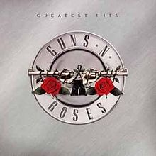 Guns N' Roses Greatest Hits silver album