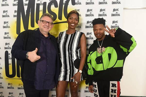 Universal Music Group Chief, Sir Lucian Grainge; Nigeria's Afrobeats Queen, Tiwa Savage & South African rapper, Nasty C.