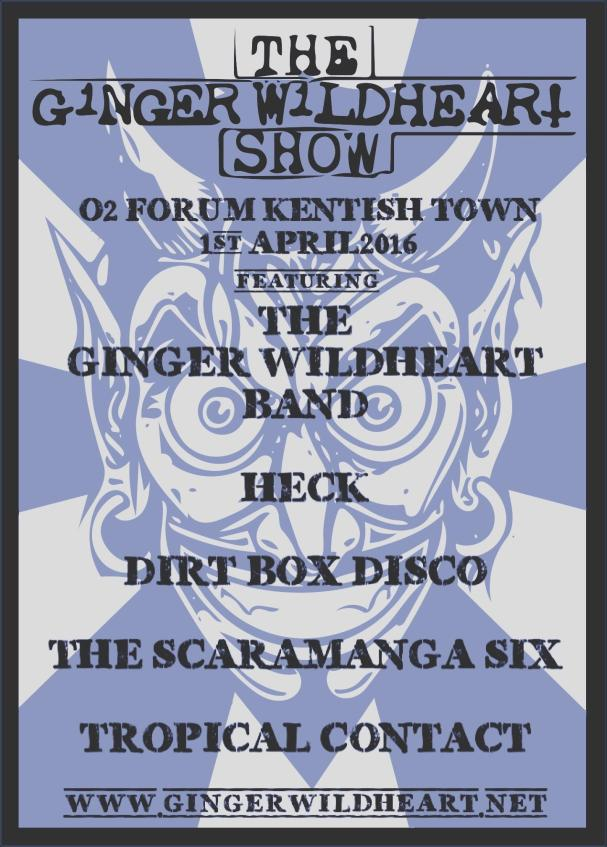 Heck join the bill at the first ever 'Ginger Wildheart Show' this Friday