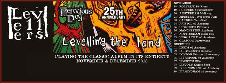 Levellers announce November & December UK Tour 2016