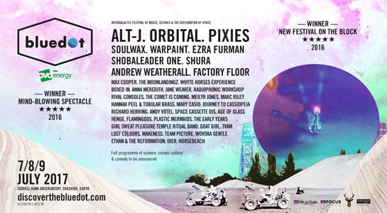 Alt-J, Pixies and Orbital named headliners for bluedot 2017