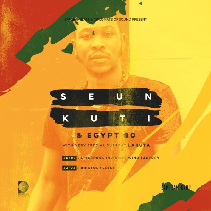 Seun Kuti and the legendary Egypt 80 return to Liverpool next week