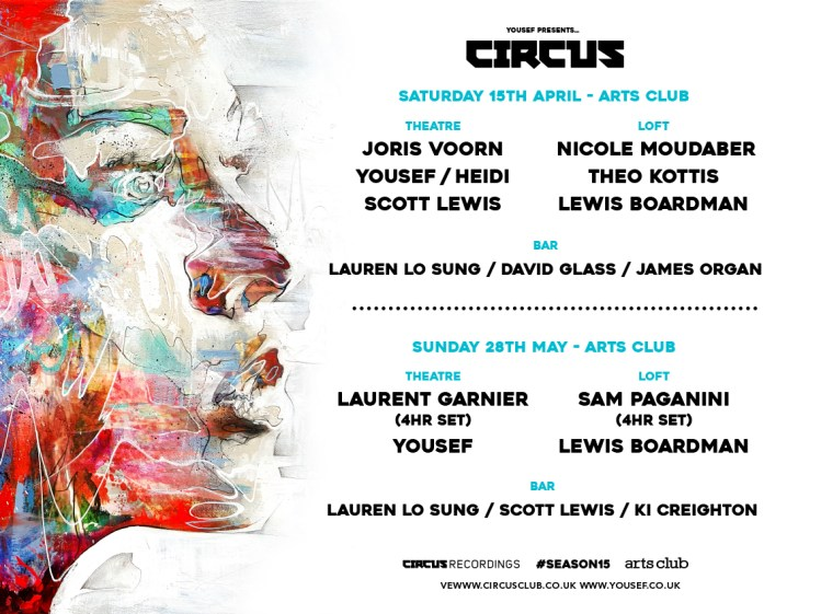Yousef presents Circus at The Arts Club, Liverpool