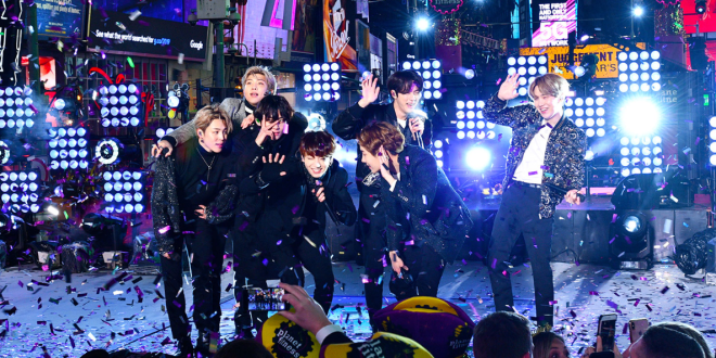 BTS on Dick Clark's Rockin Eve 2020; Photo by Eugene Gologursky/Getty Images for dick clark productions