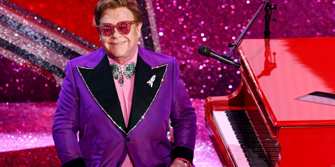 Elton John at 2020 Oscars; Photo Courtesy of Kevin Winter/Getty Images