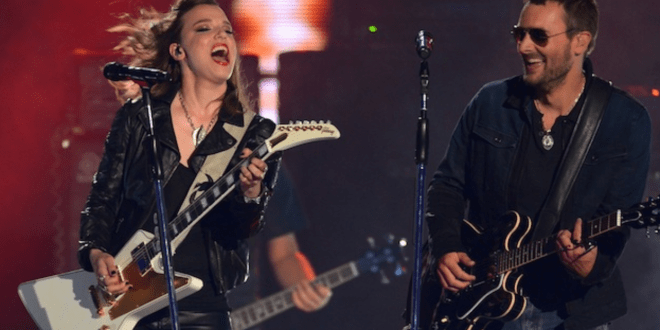 Eric Church and Lzzy Hale of Halestorm; Photo Courtesy of Michael Loccisano, Getty Images/CMT