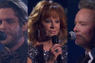 Thomas Rhett, Reba McEntire and Chris Tomlin; Photo Courtesy of CMA