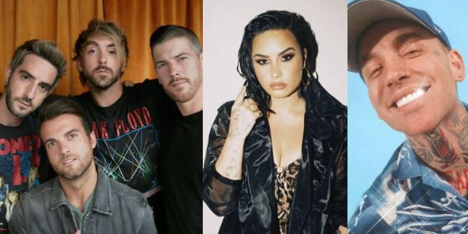 All Time Low, Demi Lovato, Blackbear; Photos Courtesy of Facebook