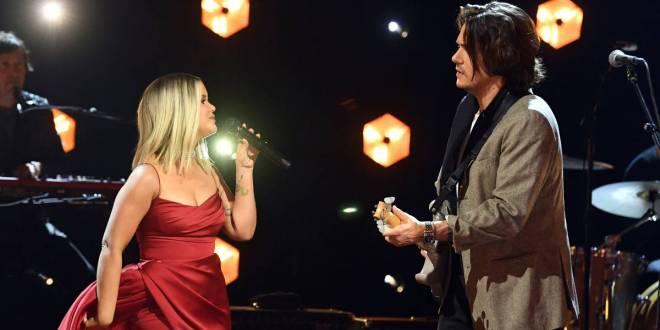 Maren Morris and John Mayer; Photo Courtesy of GRAMMYs