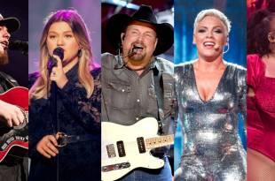 Luke Combs, Kelly Clarkson, Garth Brooks, P!nk and Lizzo