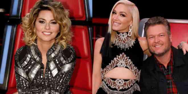 Shania Twain and Gwen Stefani & Blake Shelton; Photo Courtesy NBC