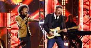 Cam Anthony and Blake Shelton; Photo Courtesy of NBC