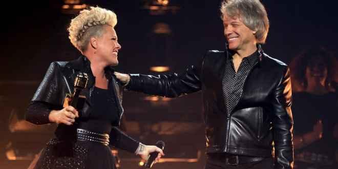 P!NK and Bon Jovi; Photo by Christopher Polk/NBC