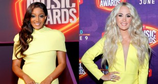 Mickey Guyton and Carrie Underwood; Photo Courtesy of CMT