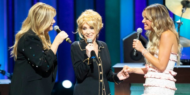 Trisha Yearwood, Jeannie Seely and Carly Pearce; Photo Courtesy of Chris Hollo/Opry