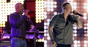 Darius Rucker and Kane Brown; Photos Courtesy of CMT/Getty Images