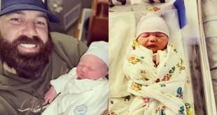 Jordan Davis & Newborn Son Locklan; Photo Courtesy of Instagram