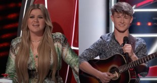 Kelly Clarkson and 'The Voice' Contestant Carson Peters; Photo Courtesy of YouTube