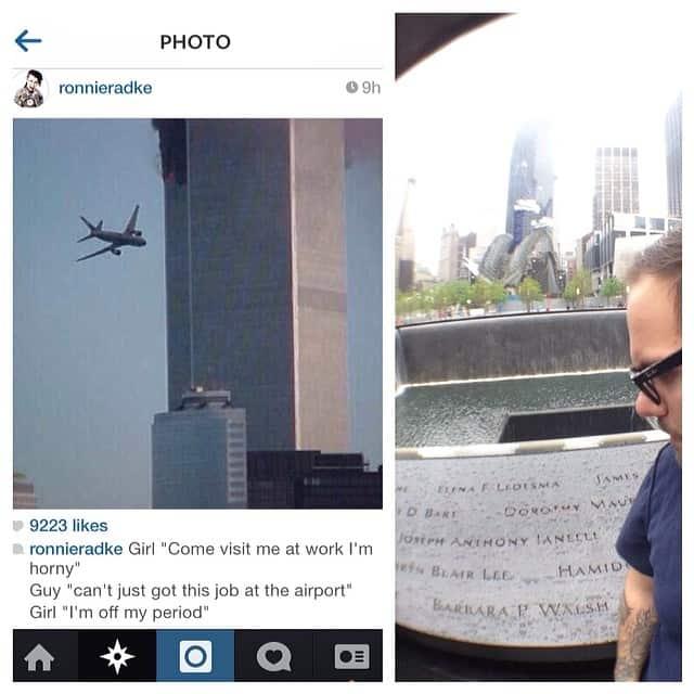 ronnie radke looses sponsorship over 9/11 joke