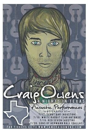 craig owens solo tour 2014 acoustic
