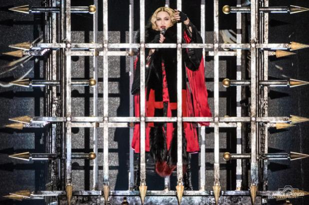 Madonna on The Rebel Heart Tour in Atlantic City NJ